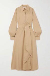 Racil - Selman Open-back Belted Cotton-blend Shirt Dress - Tan