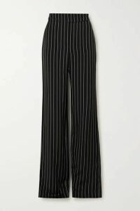 Alexandre Vauthier - Pinstriped Twill Wide-leg Pants - Black