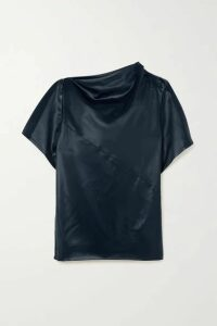 3.1 Phillip Lim - Draped Satin Top - Midnight blue