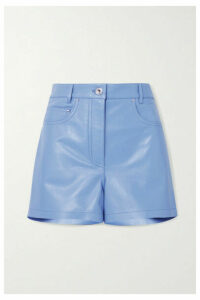 Salvatore Ferragamo - Leather Shorts - Blue