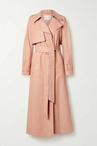 Carolina Herrera - Belted Leather Trench Coat - Blush