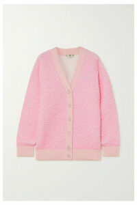 Fendi - Oversized Metallic Cloqué Cardigan - Pink
