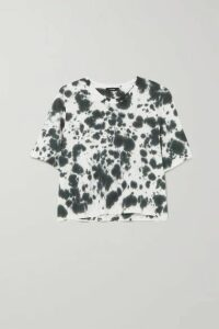 Bassike - Motley Tie-dyed Organic Cotton-jersey T-shirt - Black