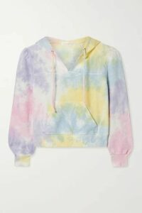LoveShackFancy - Kirby Cropped Tie-dyed Cotton-jersey Hoodie - Pink