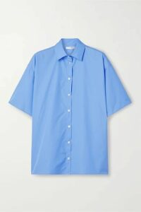 The Row - Sissa Oversized Cotton-poplin Shirt - Light blue