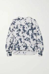 Bassike - Cutout Tie-dyed Cotton-jersey Sweatshirt - Black