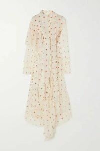 Petar Petrov - Alonsa Asymmetric Polka-dot Silk-chiffon Dress - Ivory