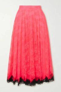 Christopher Kane - Two-tone Lace Midi Skirt - Pink