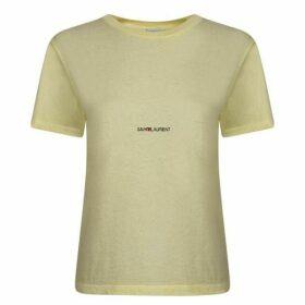 Saint Laurent Small Logo T Shirt
