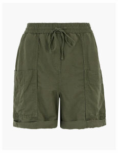 M&S Collection Tencel Cargo Pocket Shorts