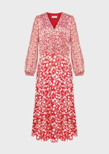 Rosie Dress Rasp Red Ivory