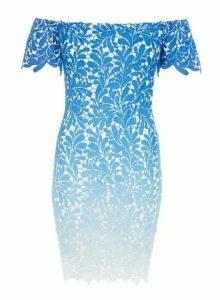 Womens *Quiz Blue Crochet Bodycon Dress, Blue