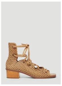 Stella McCartney Mesh Sandals in Brown size EU - 38