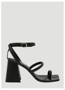 Maison Margiela Tabi Leather Sandals in Black size EU - 40