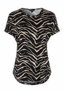 Womens Black Zebra Print Top