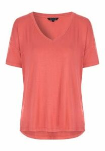Womens Pink Relaxed Fit T-Shirt