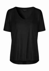 Womens Black Relaxed Fit T-Shirt