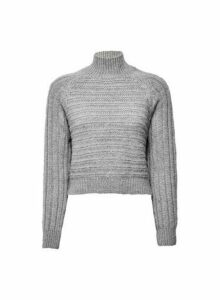 Womens **Lola Skye Grey Chunky Jumper, Grey