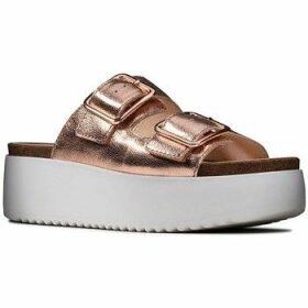Clarks  Botanic Slide  women's Sandals in Gold