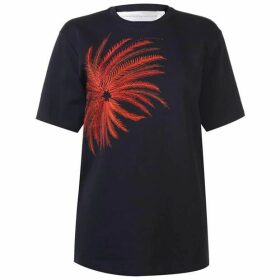 Victoria by Victoria Beckham Victoria Palm Logo T Shirt