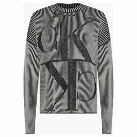 Calvin Klein Jeans  J20J212963 MIRRORED MONOGRAM  women's Sweatshirt in Black