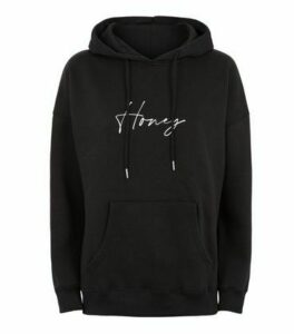 Black Honey Slogan Hoodie New Look