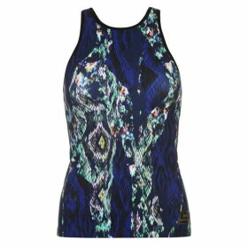 Usa Pro by Matthew Williamson High Neck Tank Top - Snake Print