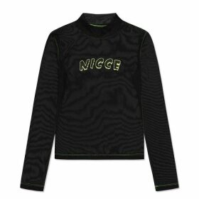 Nicce Orion Long Sleeve T Shirt - Black