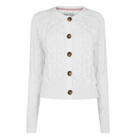 Jack Wills Westby Chunky Cable Cardigan - Vintage White