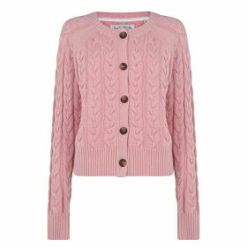 Jack Wills Westby Chunky Cable Cardigan - Pink