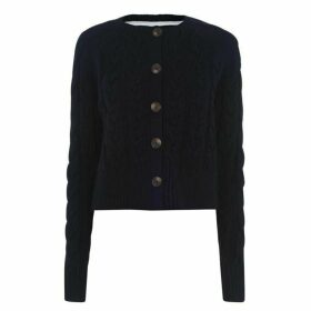 Jack Wills Westby Chunky Cable Cardigan - Navy