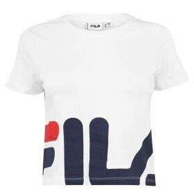 Fila Early Crop T Shirt Ladies - White