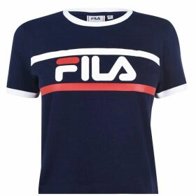 Fila Ash Crop T Shirt Ladies - Black