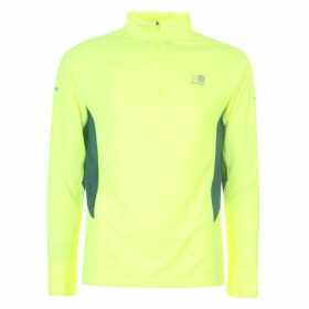 Karrimor Quarter Zip Running Top Mens - Fluo Yellow
