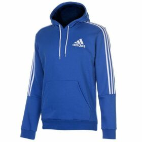 adidas 3 Stripes Logo Over The Head Hoody Mens - Blue/White
