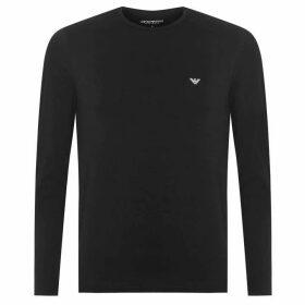 Emporio Armani Long Sleeve T-Shirt - Black 00020