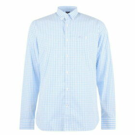 Raging Bull Raging Long Sleeve Gingham Shirt - Sky Blue64