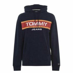 Tommy Jeans Panel Logo Hoodie - Black Iris