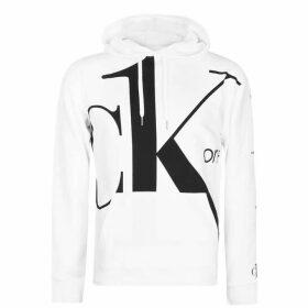 Calvin Klein Jeans Big Logo OTH Hoodie - Bright White