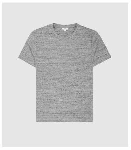 Reiss Prince - Melange Crew Neck T-shirt in Light Grey, Mens, Size XXL