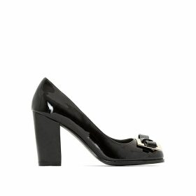 Wide-Fit Patent Heels with Jewelled Detail