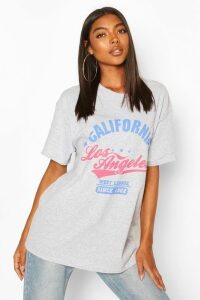 Womens Tall 'California' Oversized T-Shirt - Grey - S, Grey