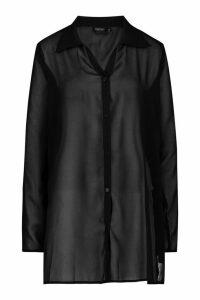 Womens Beach Shirt - Black - M, Black