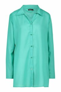 Womens Beach Shirt - Green - M, Green