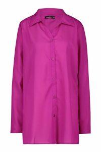 Womens Beach Shirt - Purple - M, Purple
