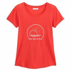 Beach Print Slogan T-Shirt