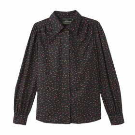 Heart Print Shirt with Long Sleeves