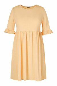 Womens Plus Recycled Basic Smock Dress - Orange - 18, Orange