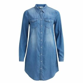 Mid-Length Denim Shirt Dress