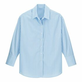 Striped Cotton Shirt with Long Sleeves
